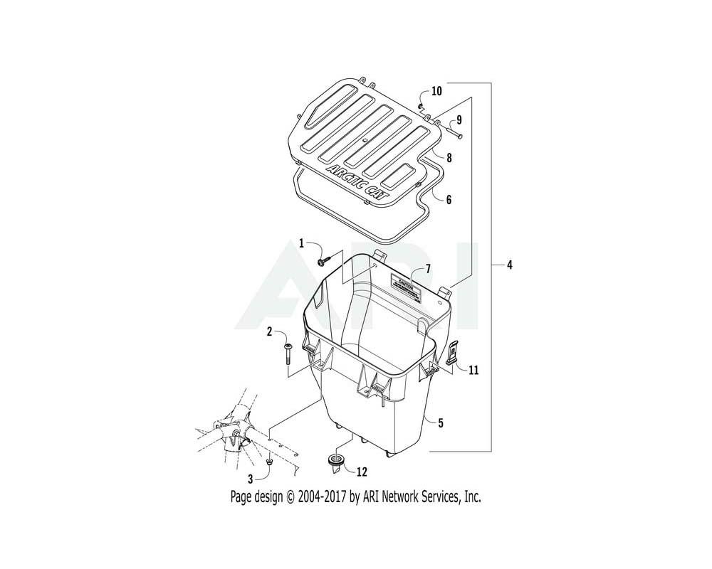 Arctic Cat OEM 5506-626 Box Storage Assembly   (Inc. 5 12)