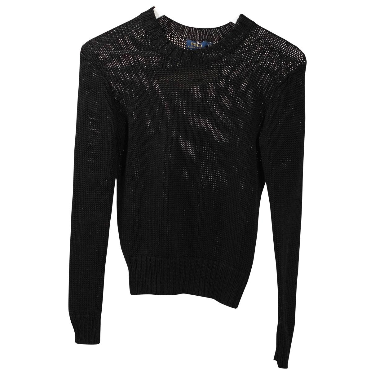 Polo Ralph Lauren - Pull   pour femme en coton - noir