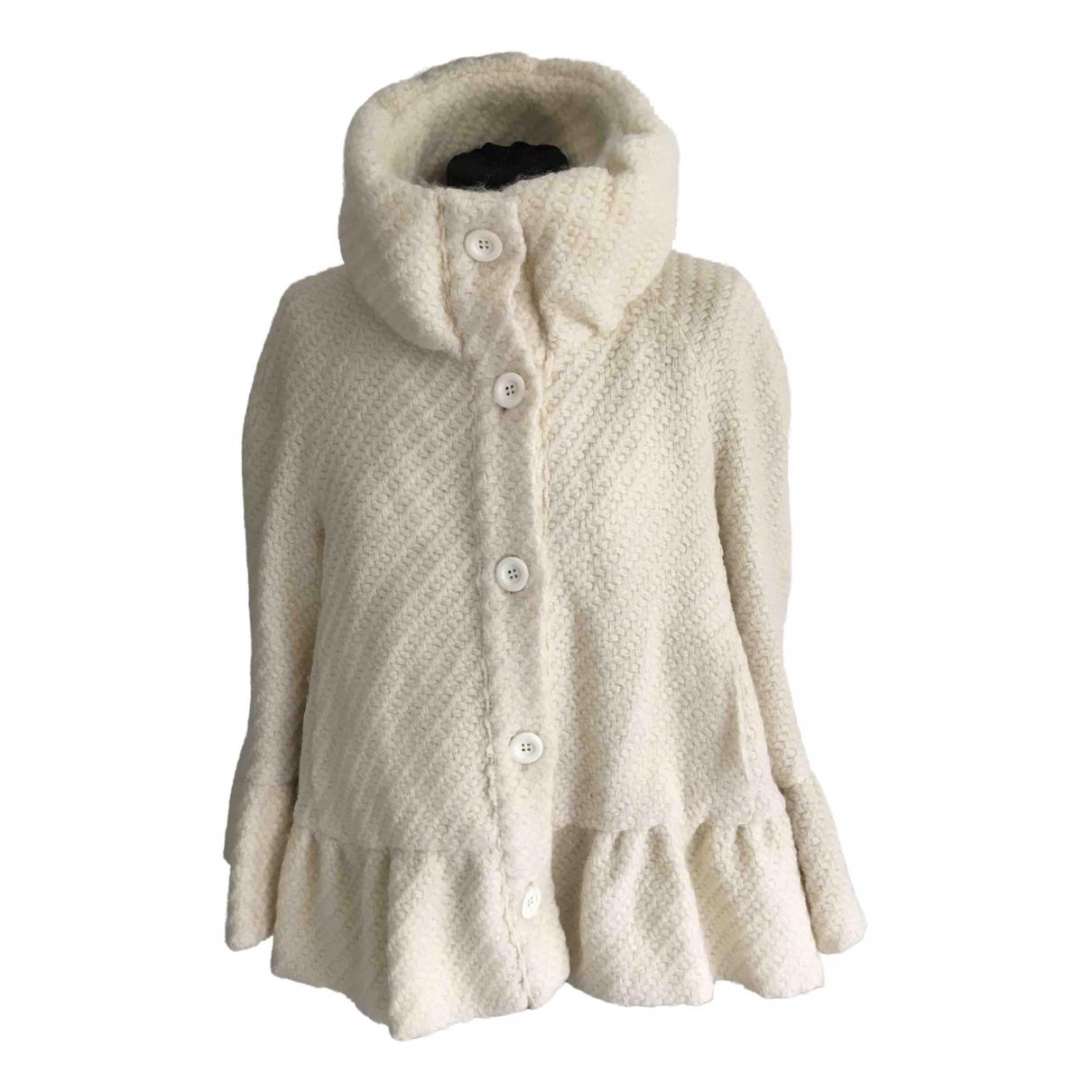 Moschino Love \N Jacke in  Ecru Wolle