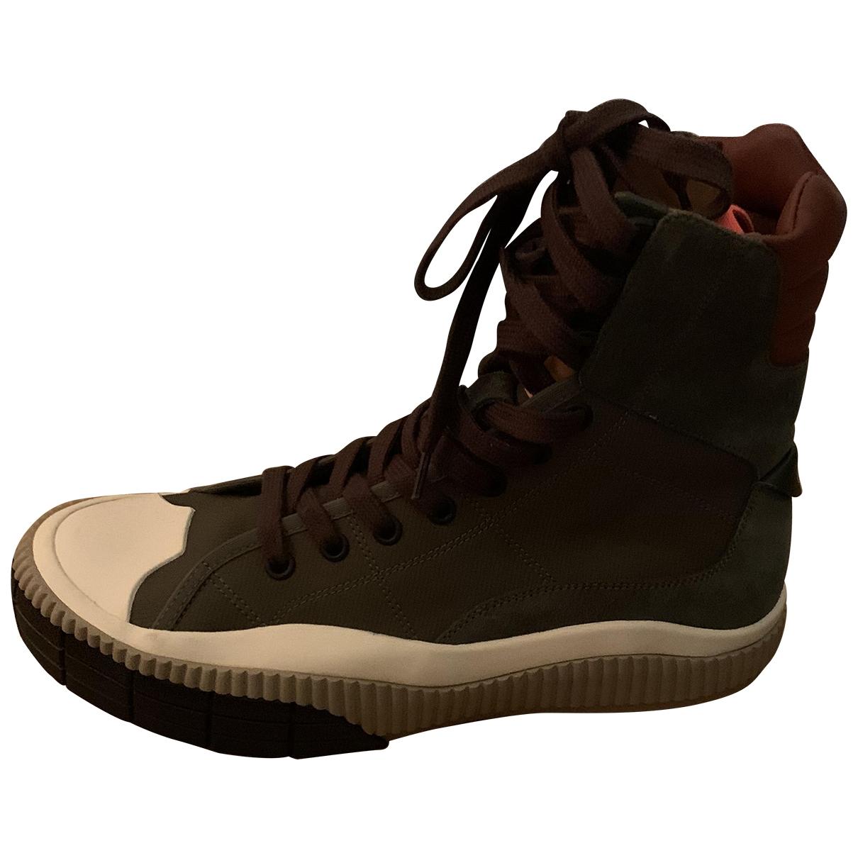 Chloe \N Sneakers in  Khaki Leder