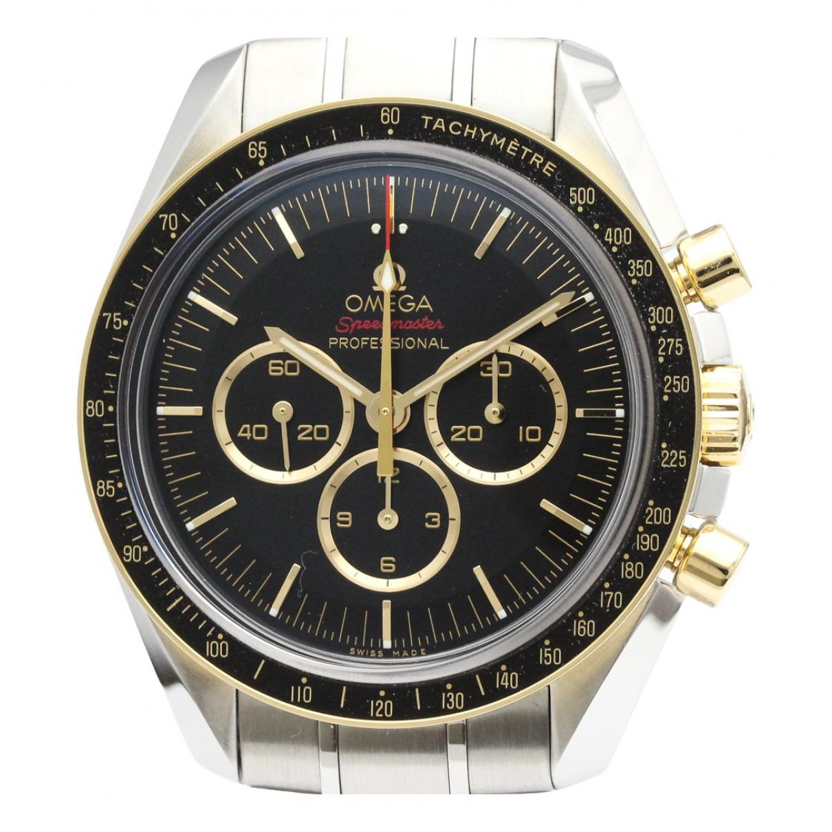 Omega Speedmaster Uhr in  Schwarz Gold und Stahl