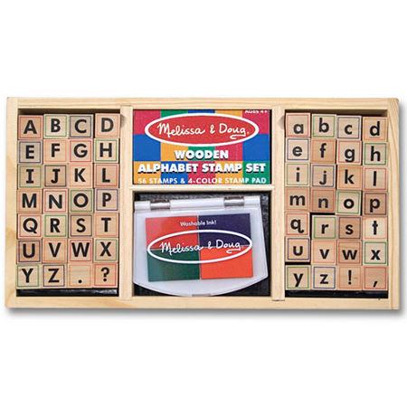 Melissa & Doug Alphabet Stamp Set, One Size , Multiple Colors