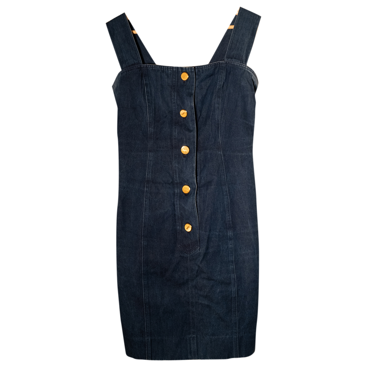 Yves Saint Laurent \N Kleid in  Blau Denim - Jeans