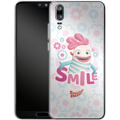 Huawei P20 Silikon Handyhuelle - Sorgenfresser Smile von Sorgenfresser