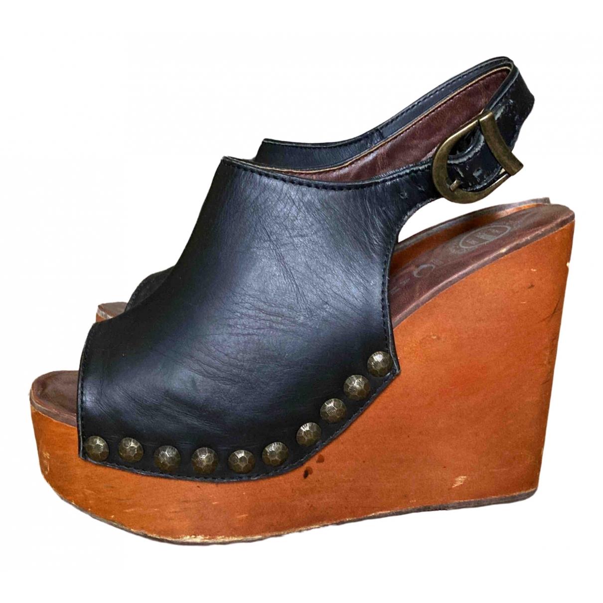Jeffrey Campbell \N Black Leather Heels for Women 38 EU