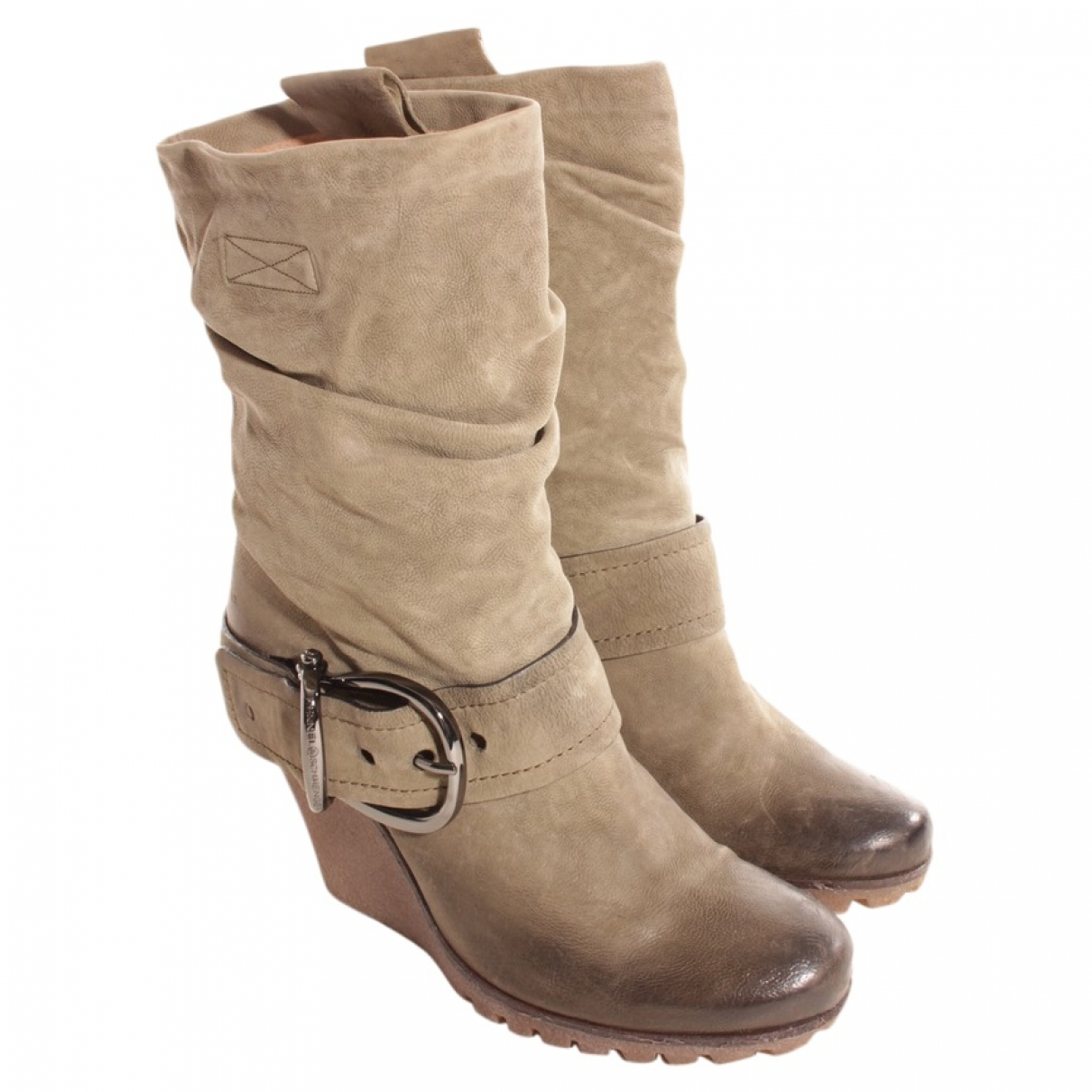 Kennel Und Schmenger \N Green Leather Ankle boots for Women 40 EU