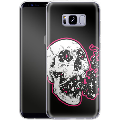 Samsung Galaxy S8 Plus Silikon Handyhuelle - Space Skull Black von Kreatyves