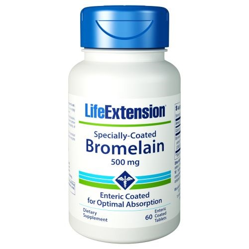 Specially-Coated Bromelain 60 Enteric Coated Tablets by Life Extension