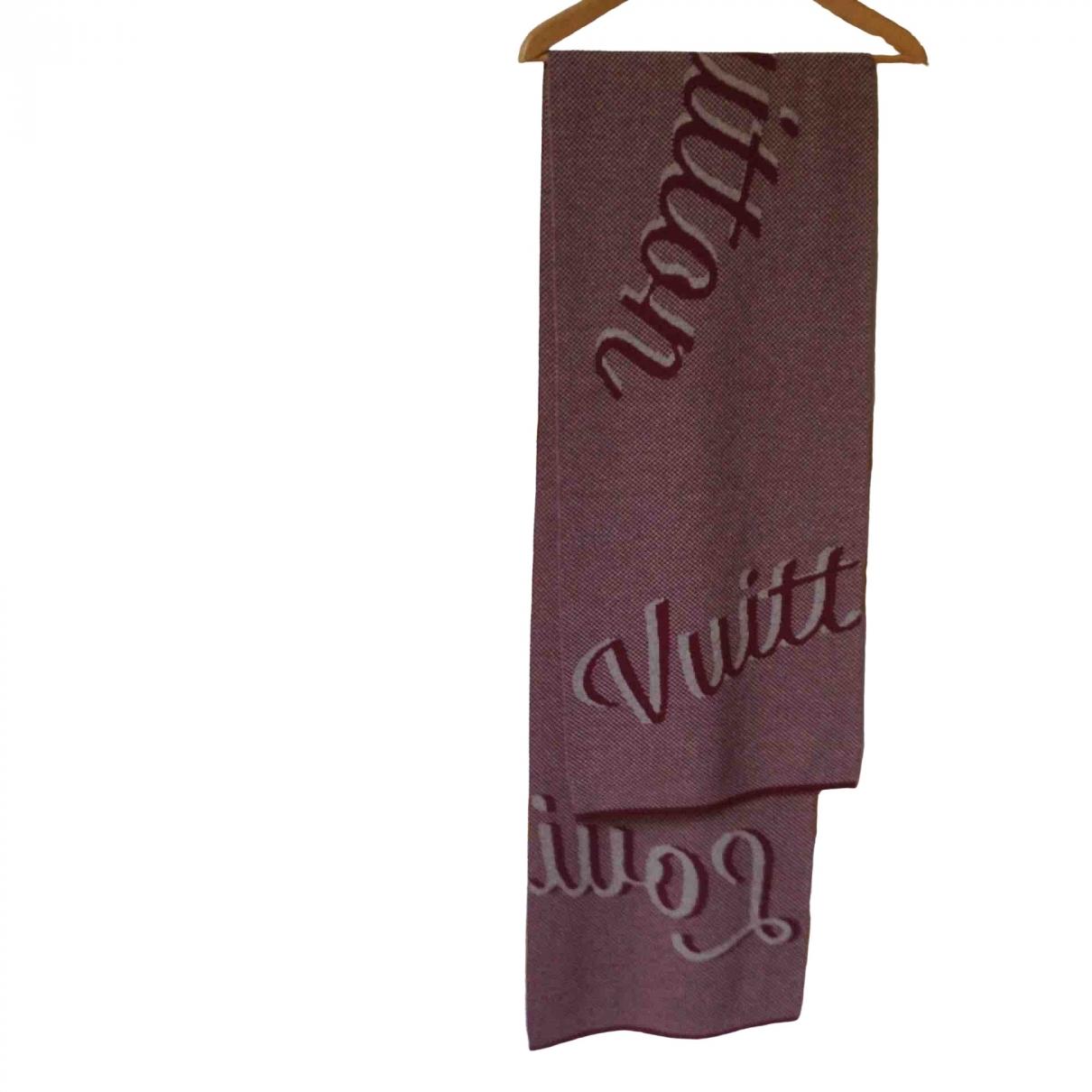 Louis Vuitton \N Burgundy Wool scarf & pocket squares for Men \N