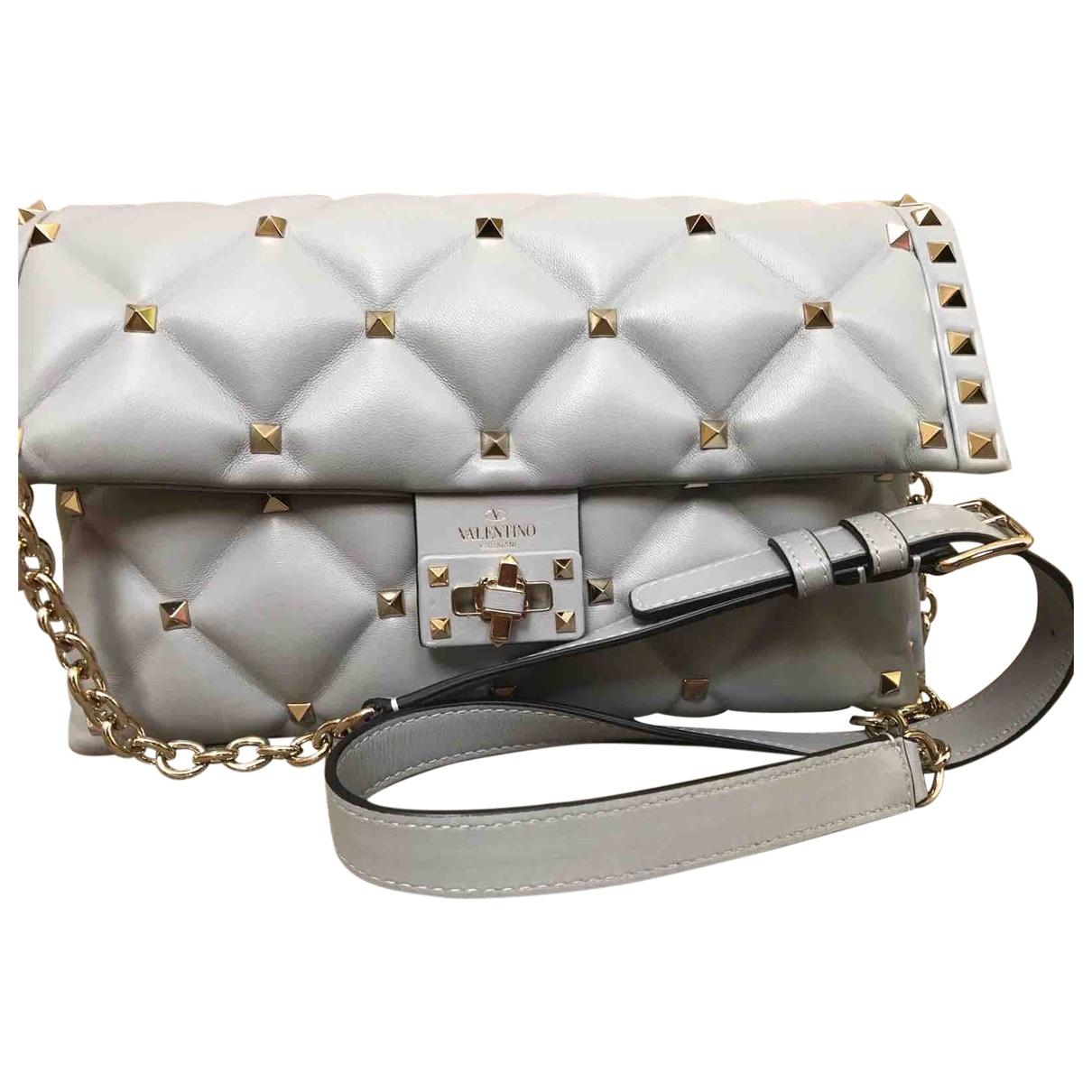 Valentino Garavani CandyStud Grey Leather handbag for Women \N