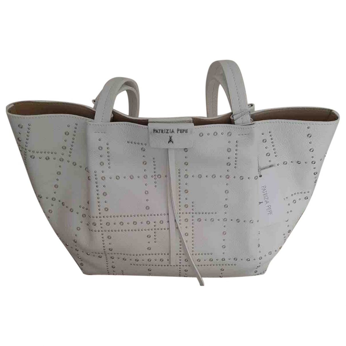 Patrizia Pepe \N White Leather handbag for Women \N