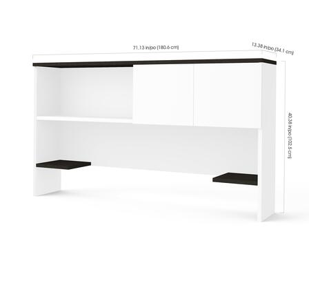 Pro-Concept Plus Collection 110522-1117 Hutch with Sliding Door in White & Deep