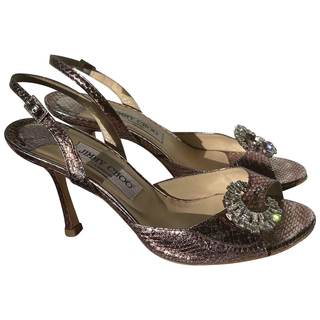 Jimmy Choo \N Sandalen in  Metallic Wasserschlangen