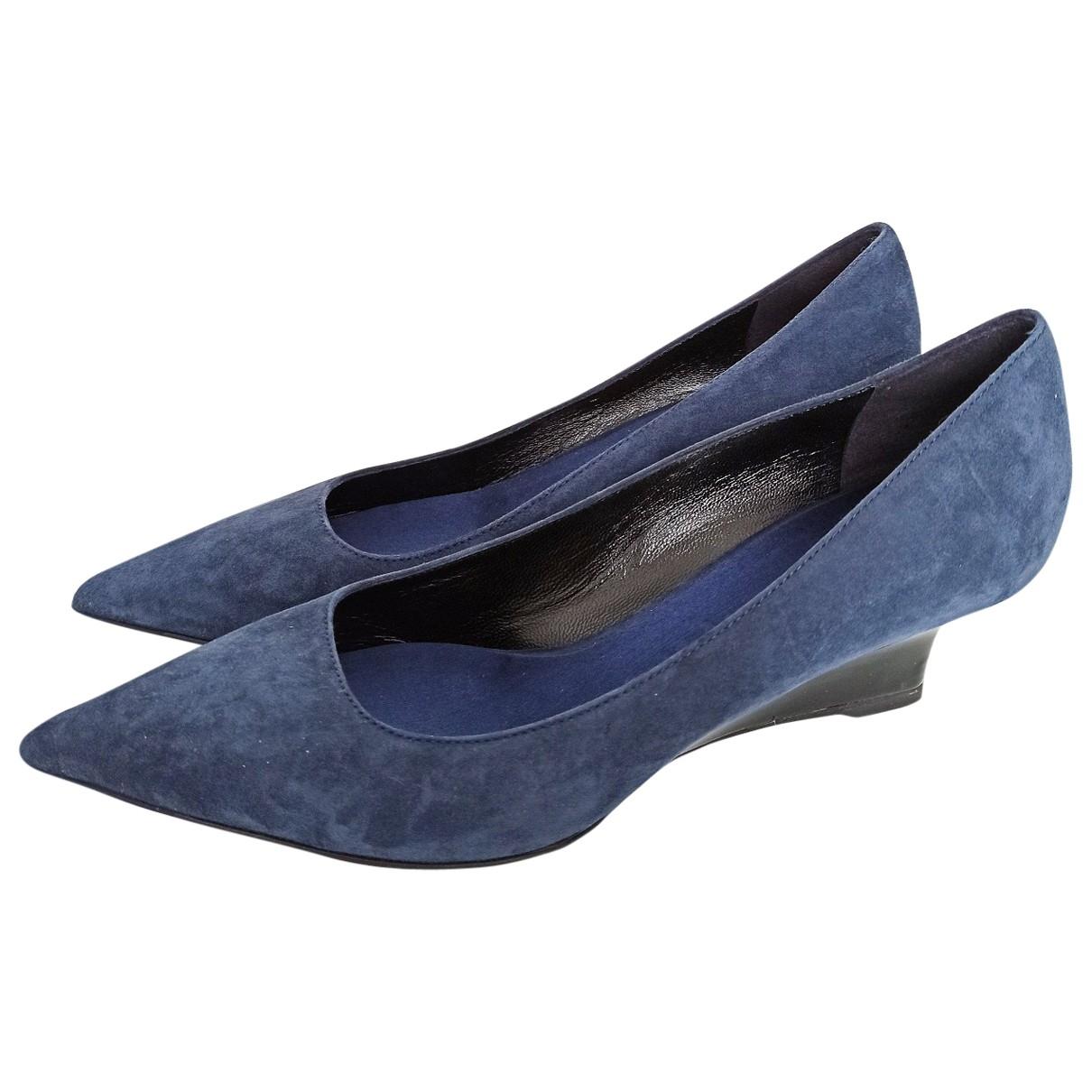 Burberry \N Blue Suede Heels for Women 38 EU