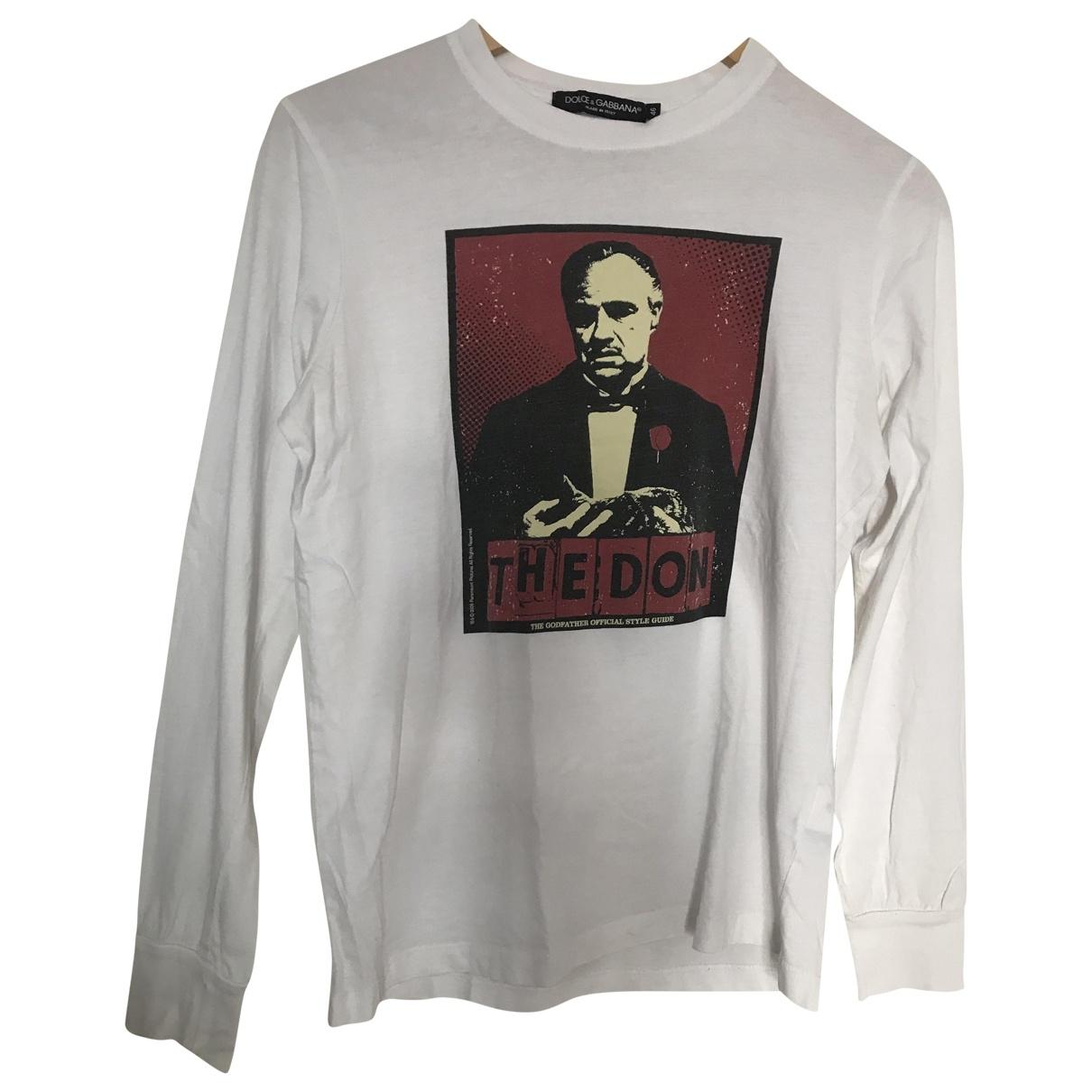 Dolce & Gabbana \N Pullover.Westen.Sweatshirts  in  Weiss Baumwolle