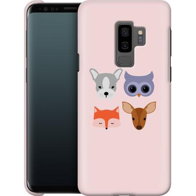 Samsung Galaxy S9 Plus Smartphone Huelle - Animal Friends on Pink von caseable Designs
