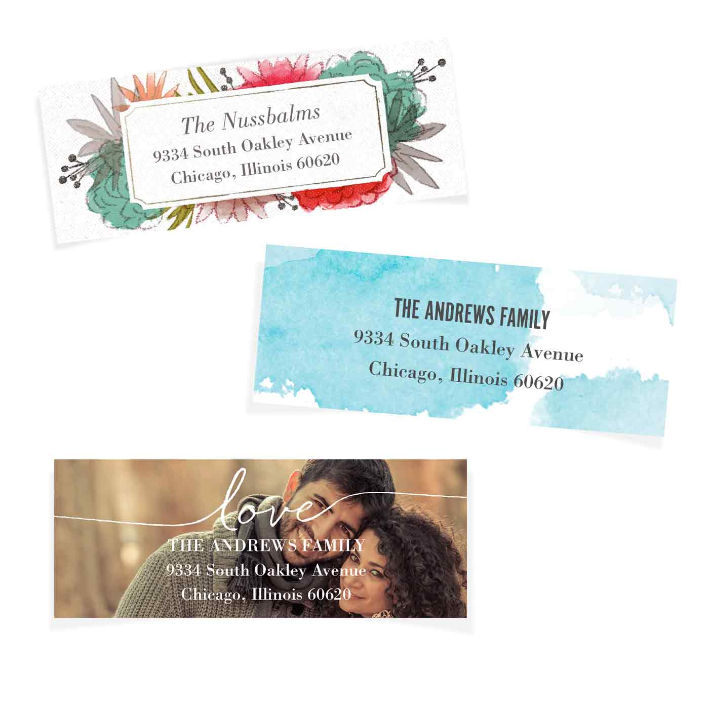 Holiday Return Address Labels, Card & Stationery -Address Label Christmas String by Tumbalina