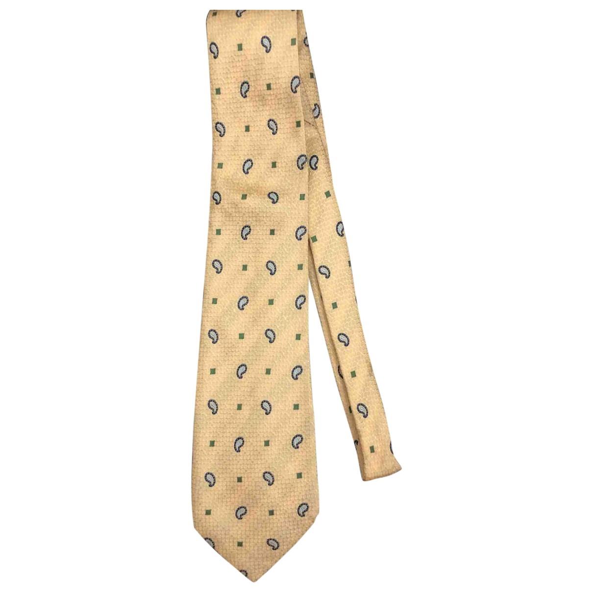 - Cravates   pour homme en soie - jaune