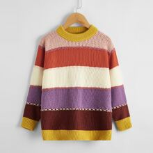 Girls Colorblock Criss Cross Sweater