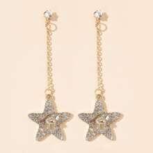 Rhinestone Star Drop Earrings