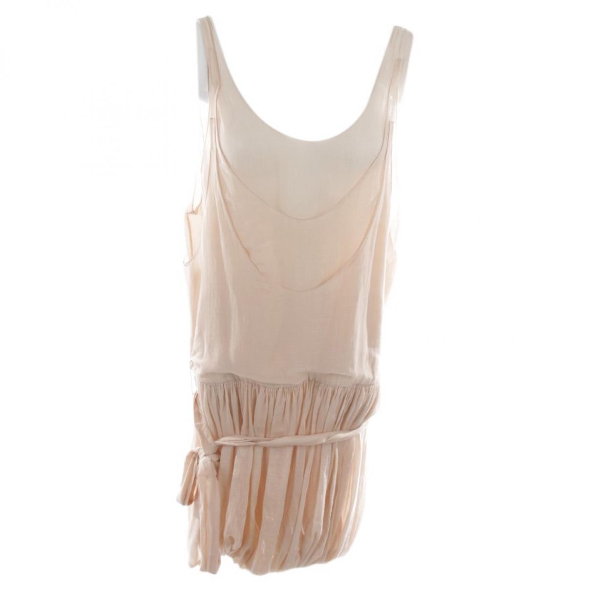 Stella Mccartney \N Beige Silk dress for Women 32 FR
