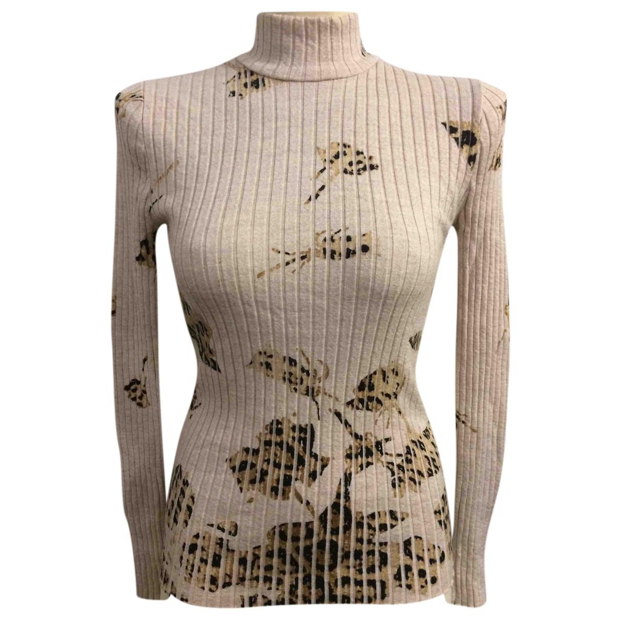 Blumarine - Pull   pour femme en laine - beige