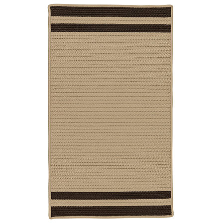 Colonial Mills Sonoma Accent Stripe Braided Rectangular Reversible Indoor/Outdoor Rugs, One Size , Brown