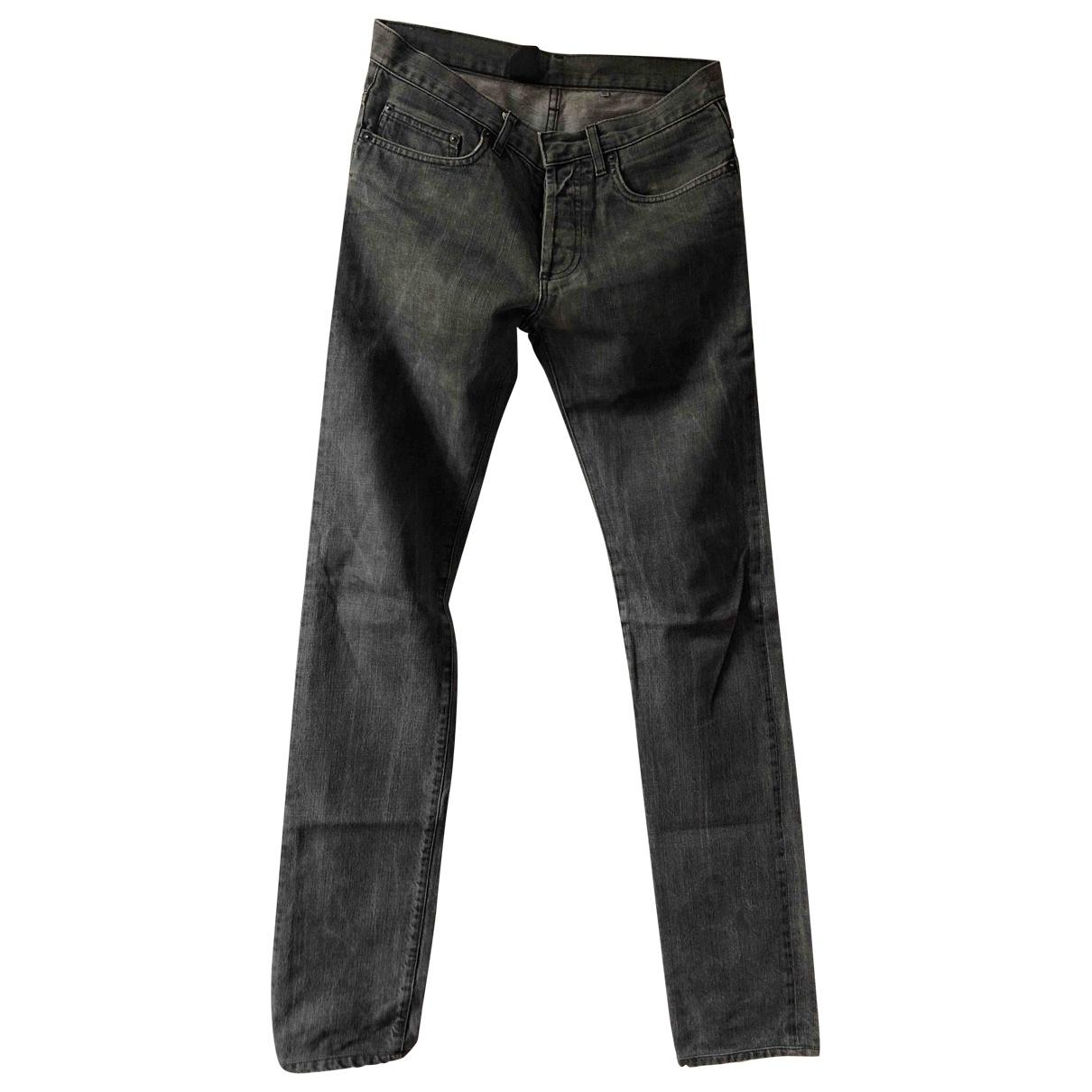 Dior Homme \N Grey / Black Cotton Jeans for Men 29 US