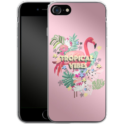 Apple iPhone 8 Silikon Handyhuelle - Flamingo Solo von Mukta Lata Barua