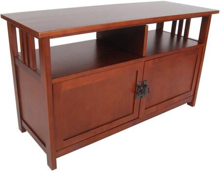 Mission Collection AMIA1060 TV Stand with Glass Doors