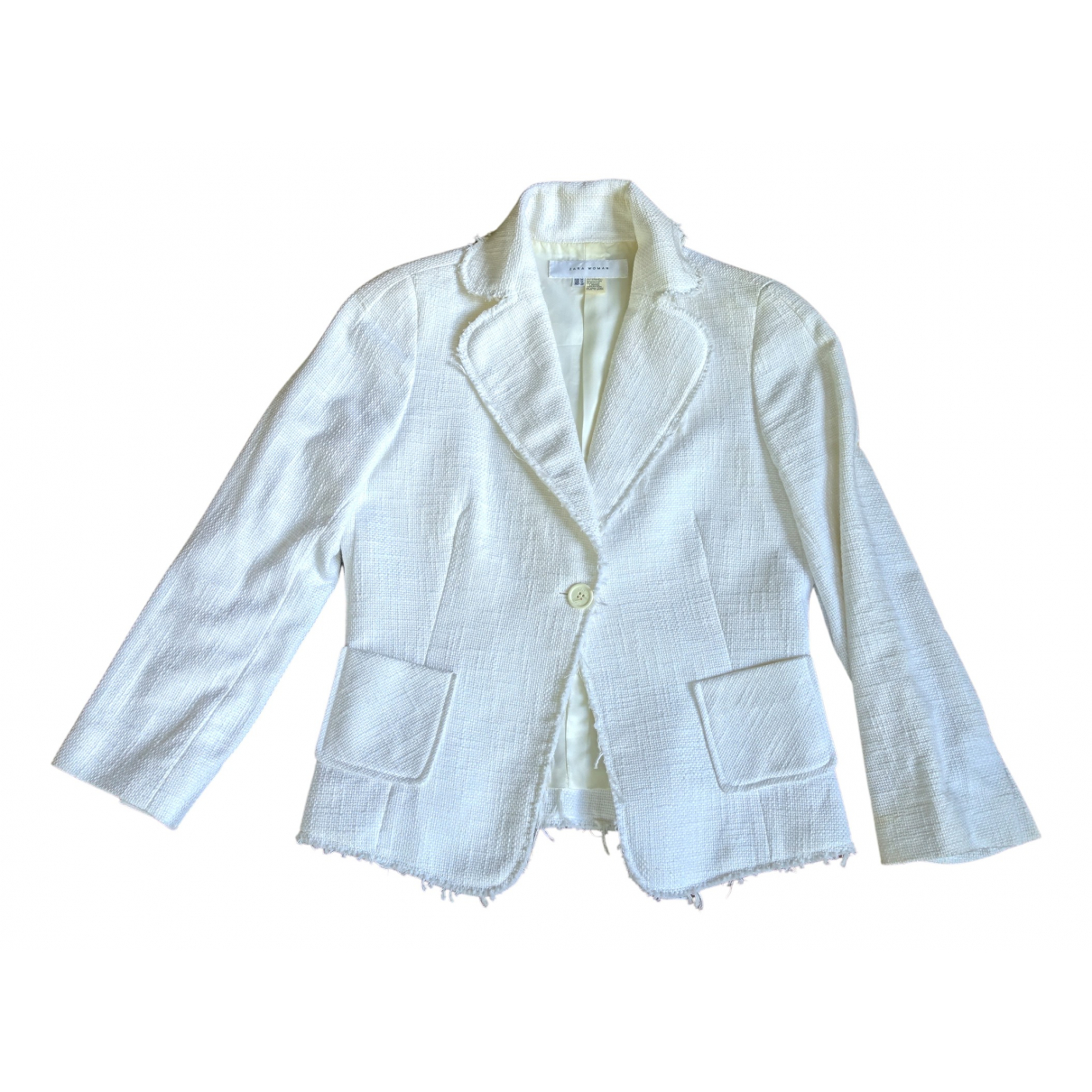 Zara \N White Tweed jacket for Women M International
