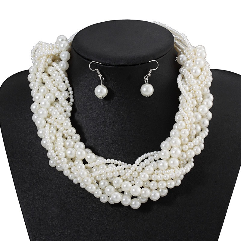 Ericdress Simiple Pearl Wedding Jewelry Set