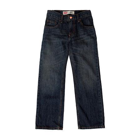 Levi's Big Boys 505 Straight Regular Fit Jean, 12 , Blue