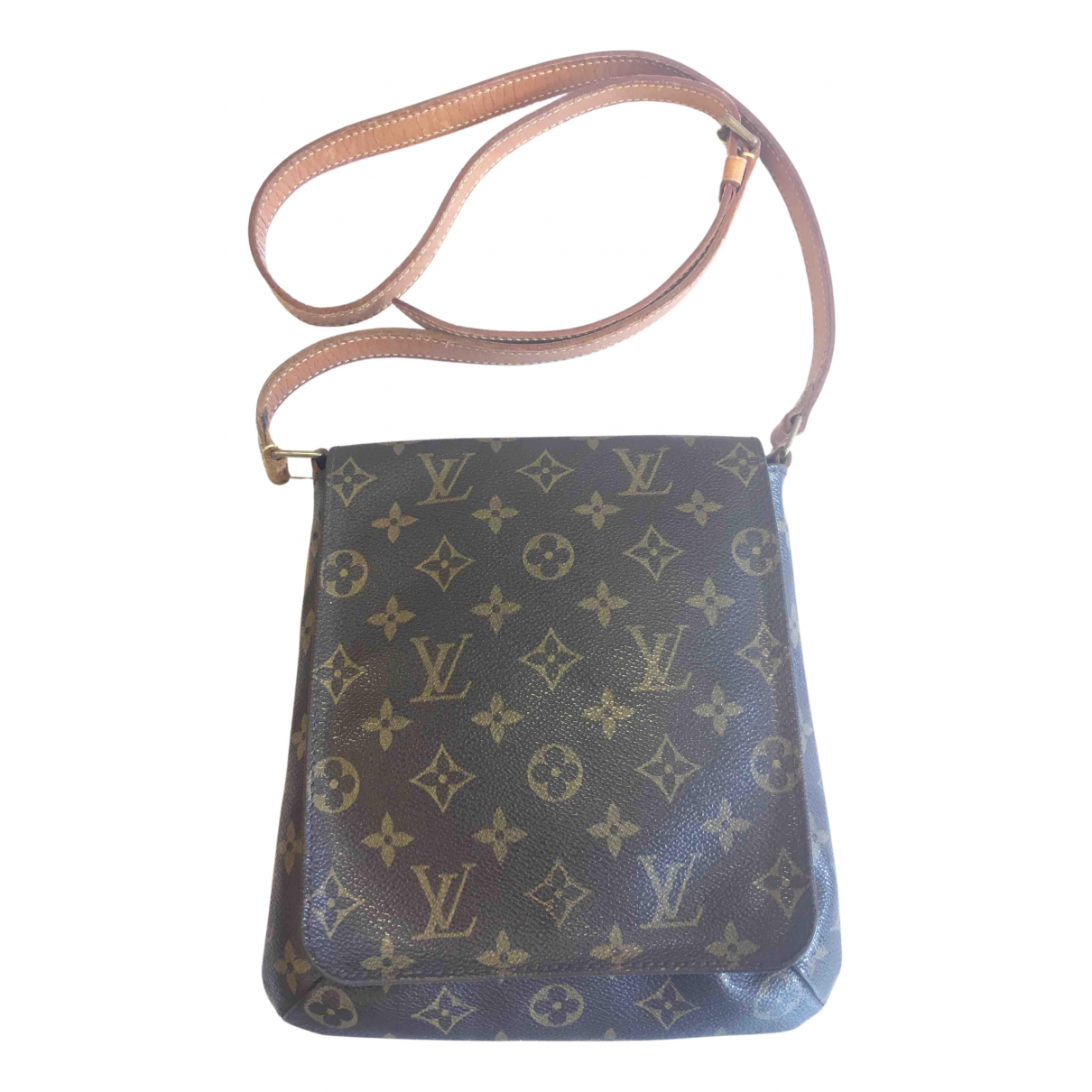 Louis Vuitton Salsa Handtasche in  Braun Leinen