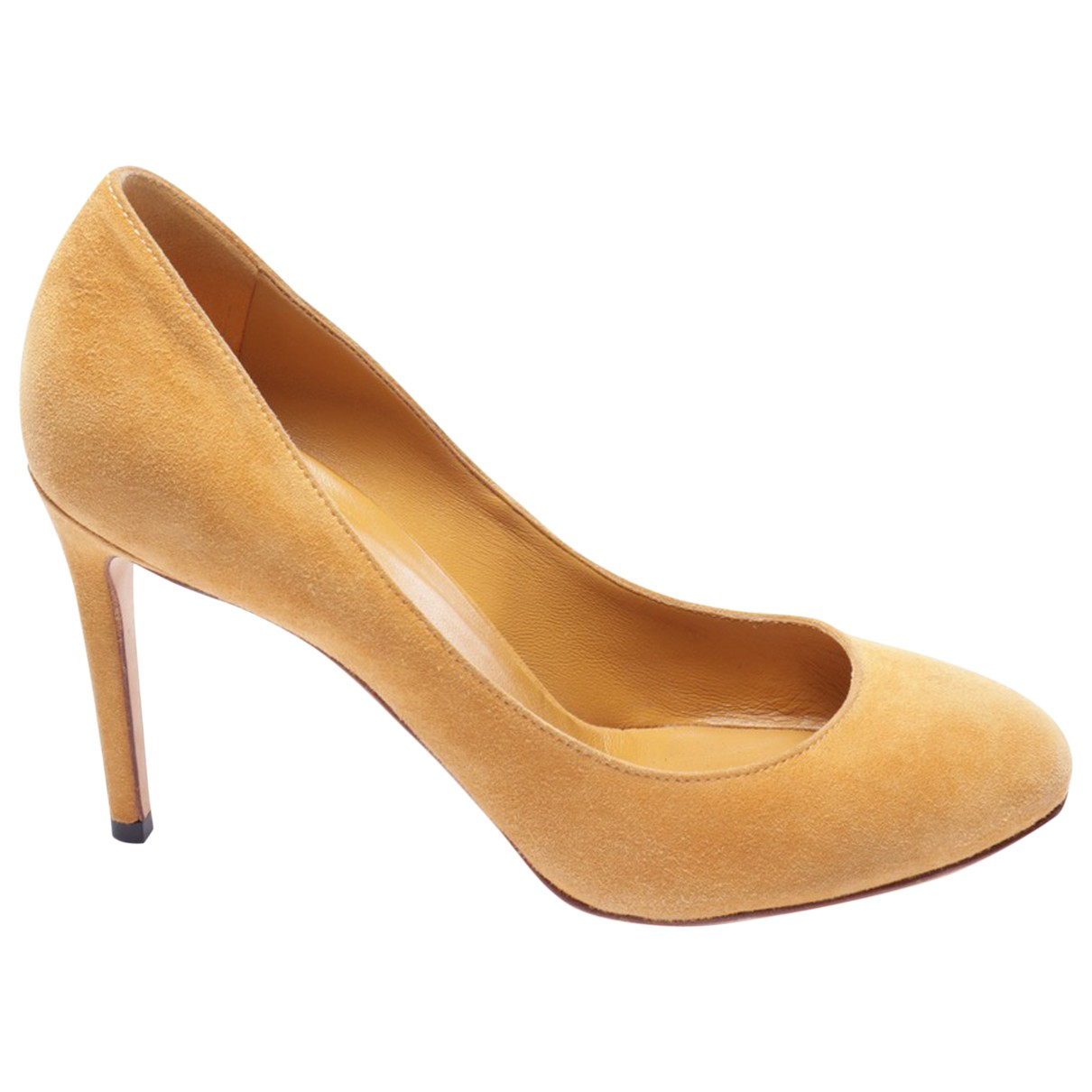 Gucci N Yellow Leather Heels for Women 36.5 EU