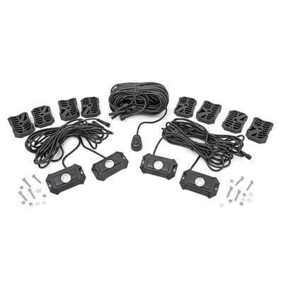 Rough Country Deluxe 4 Pod LED Rock Light Kit - 70980