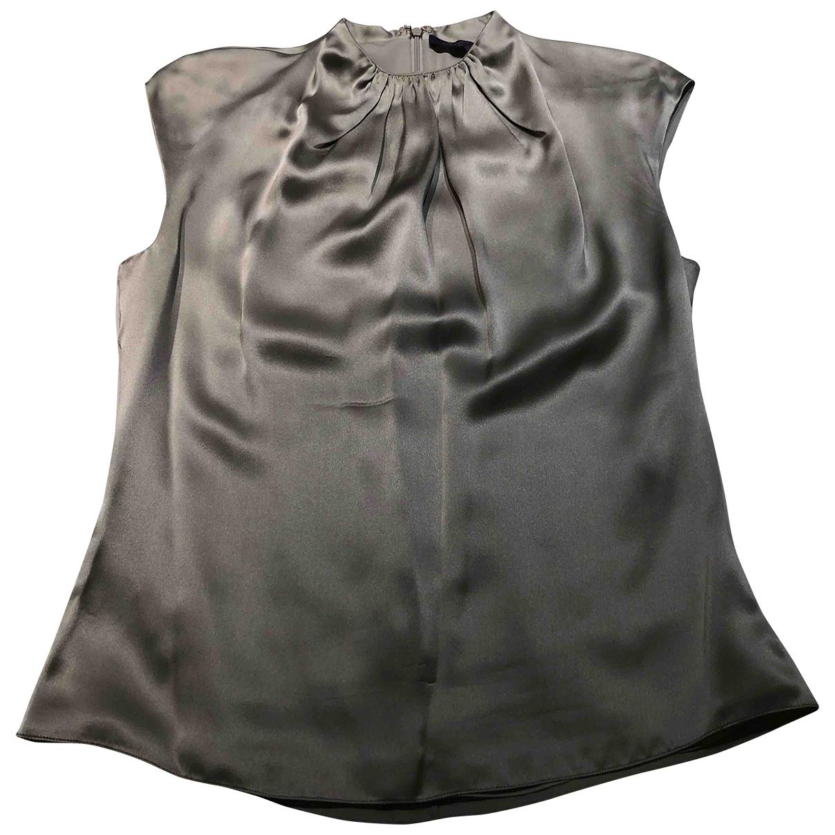 Ralph Lauren Collection \N Top in  Grau Seide