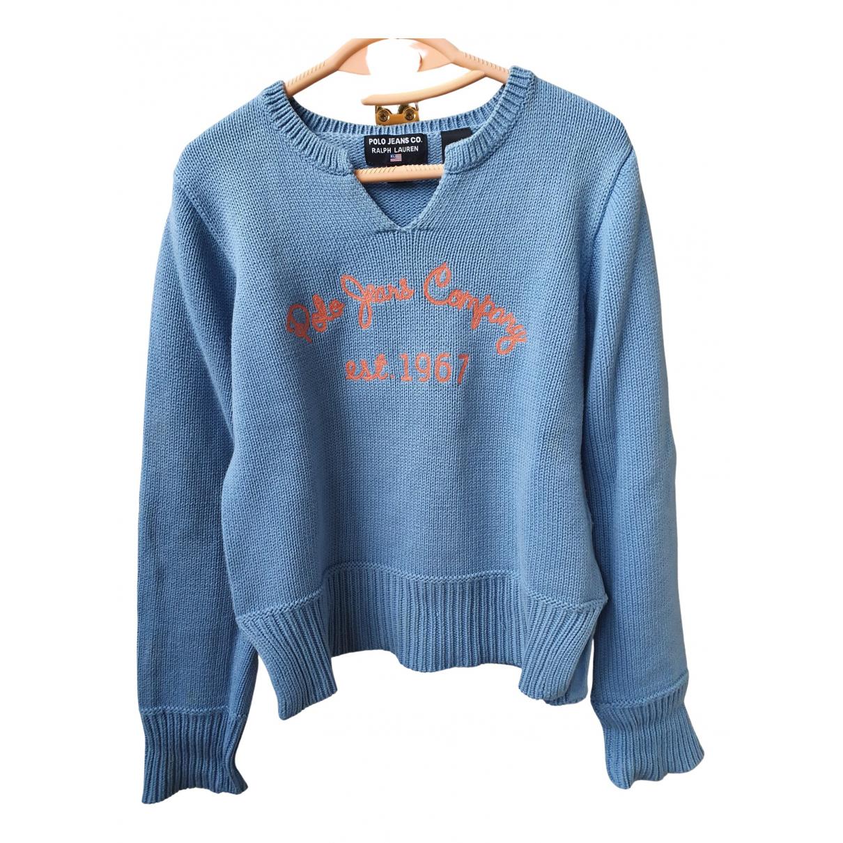 Polo Ralph Lauren N Blue Cotton Knitwear for Kids 18 years - L UK
