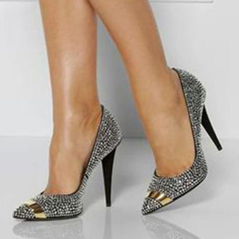 Ericdress Color Block Slip-On Stiletto Heel Women's Prom Shoes