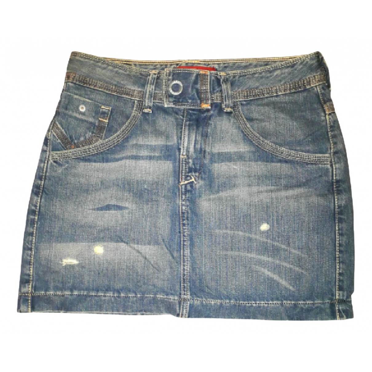 Levis N Blue Cotton skirt for Women M International
