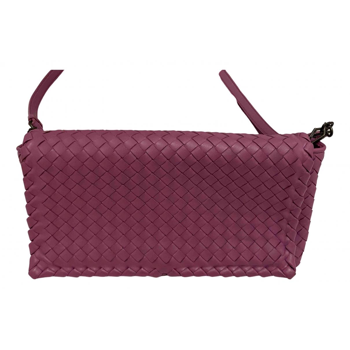 Bottega Veneta - Sac a main   pour femme en cuir - violet