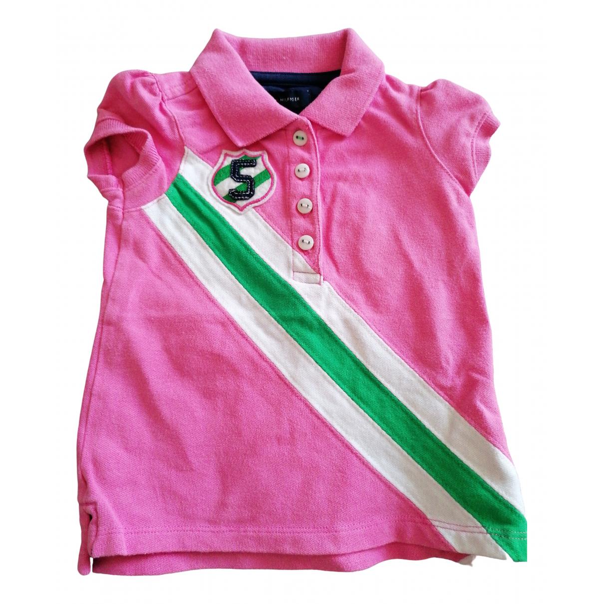 Tommy Hilfiger - Pull   pour enfant en coton - rose