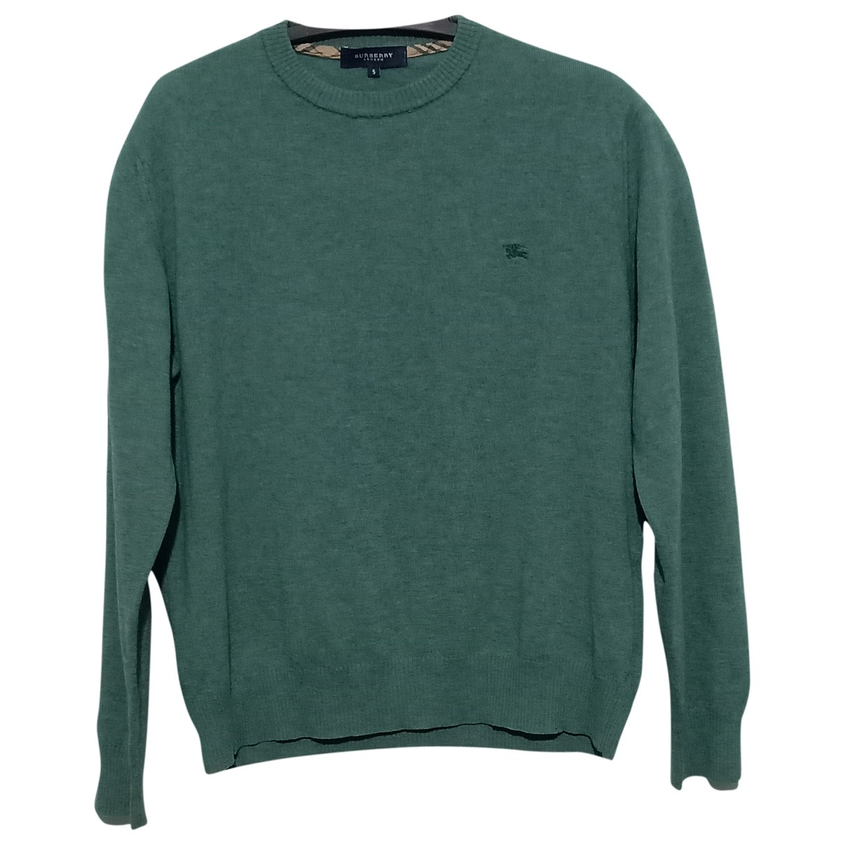 Burberry - Pulls.Gilets.Sweats   pour homme en laine - vert