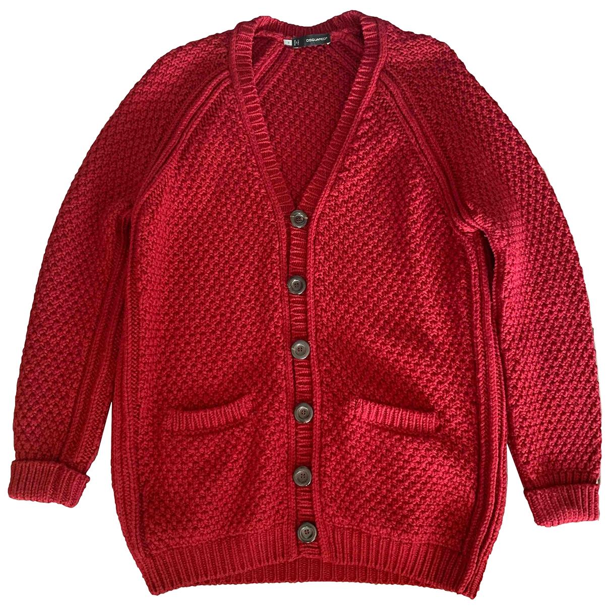 Dsquared2 - Pull   pour femme en laine - rouge