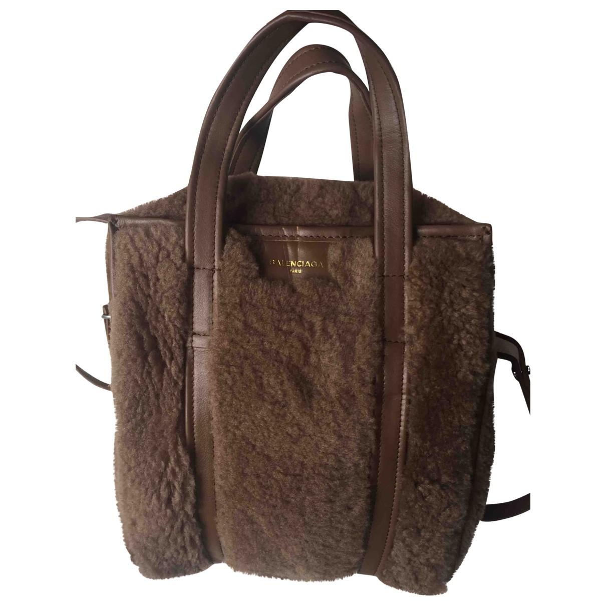 Balenciaga Bazar Bag Handtasche in  Braun Schaf
