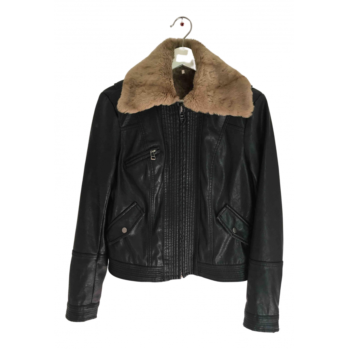Free People N Black Faux fur jacket for Women S International