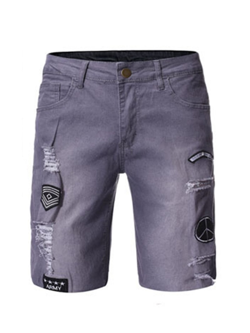 Ericdress Letter Hole Straight Summer Zipper Casual Pants
