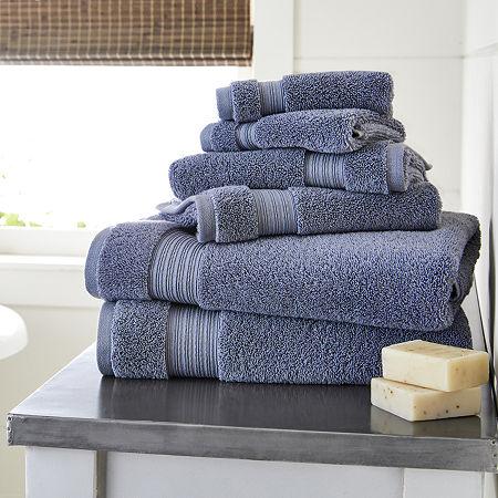 Linden Street Organic Bath Towel, One Size , Blue