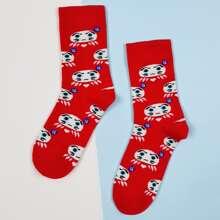 Calcetines con estampado de dibujos animados