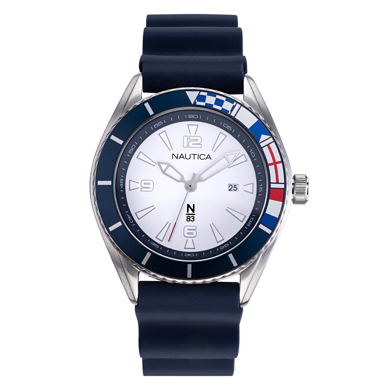 Nautica Watch NAPUSS903 Urban Surf, Analog, Water Resistant, Silicone Strap, Buckle Clasp, White